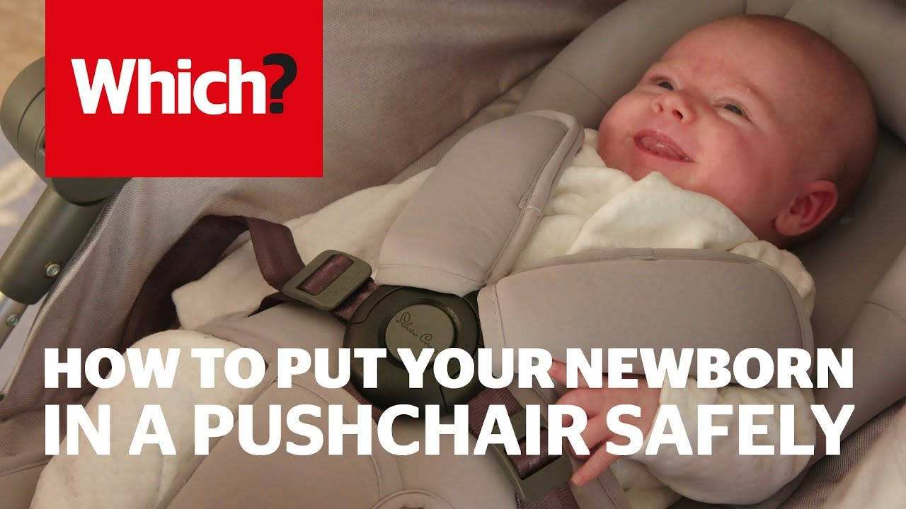 Baby Pushing Pram Youtube How To Put Your Newborn Baby In A Pushchair Safely Which Advice