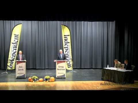 Raw video: District 35 Legislative Debate between Gregg Neuhaus and Dan Quick