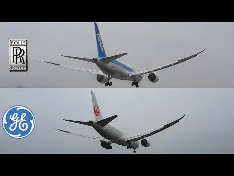 GEnx VS. Trent 1000 (JAL VS. ANA), 787-8 Engines Sound Battle !!