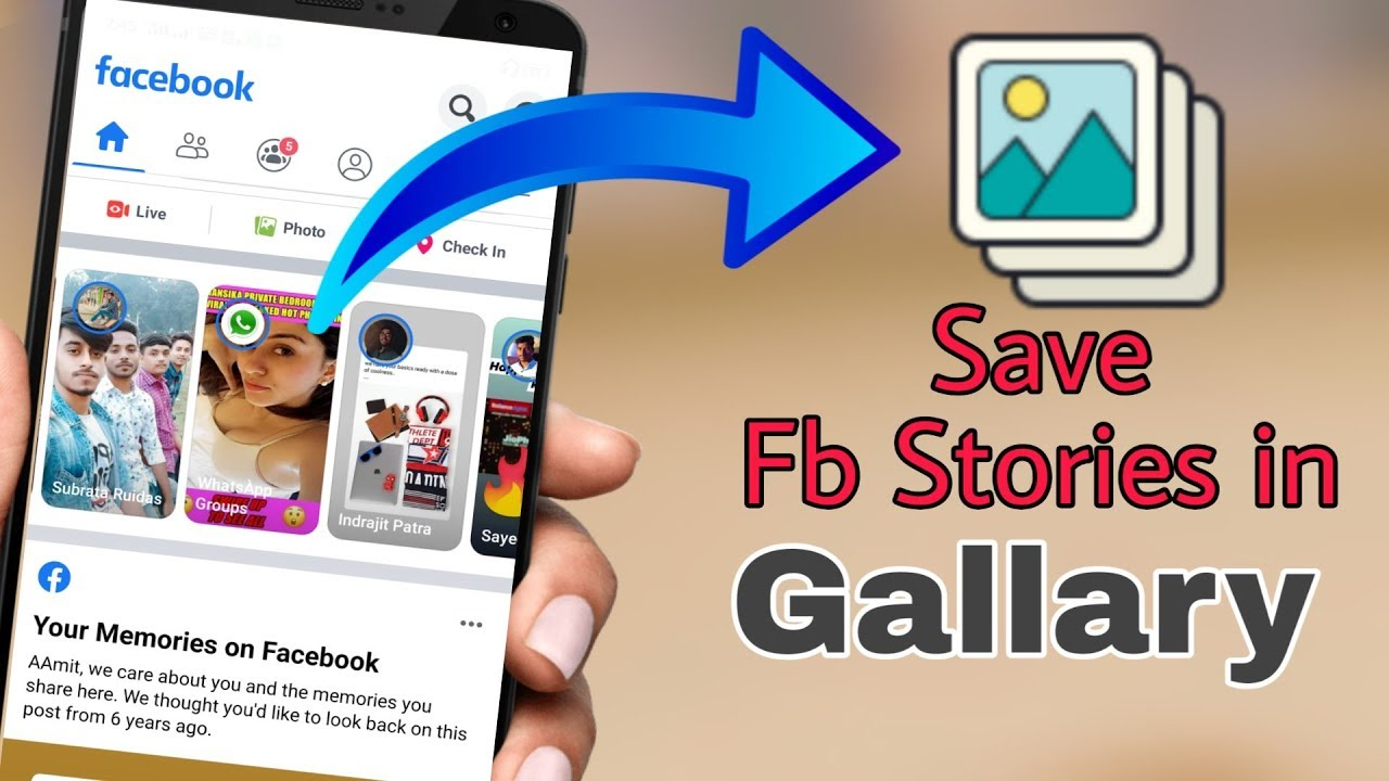 How To Download Facebook Stories In Your Phone Youtube