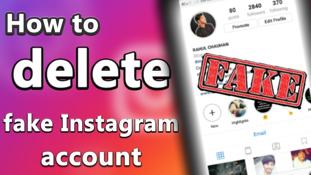 How to delete someone fake Instagram account 100% working 2019 [ WITH PROOF]