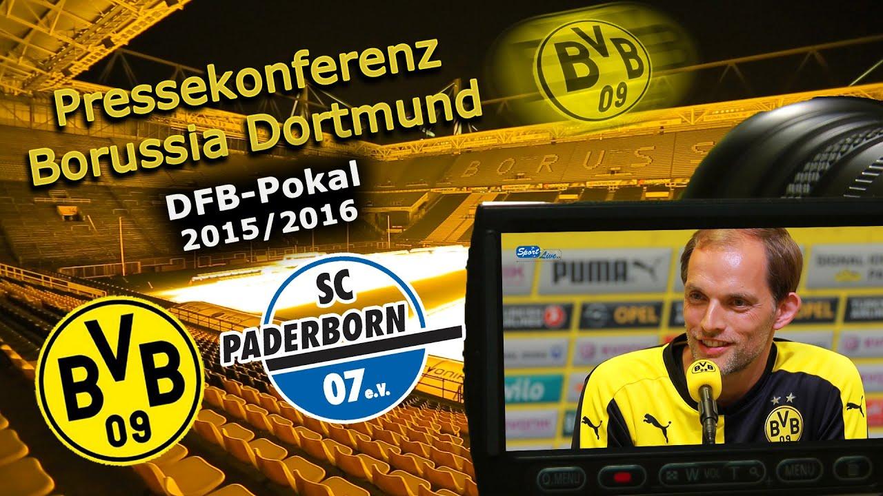 DFB - Pokal: Borussia Dortmund - SC Paderborn: Pk mit Tuchel und Effenberg