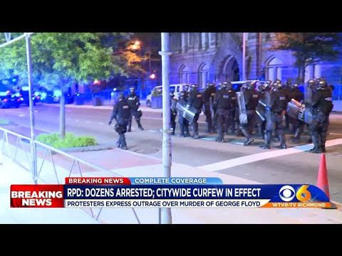 Police make dozens of arrests in Richmond on third night of unrest