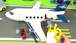 LEGO DUPLO Traktör, Arabalar çizgi film, Ekskavatör ve Yeni - Itfaiyeci oyuncak - polis arabası