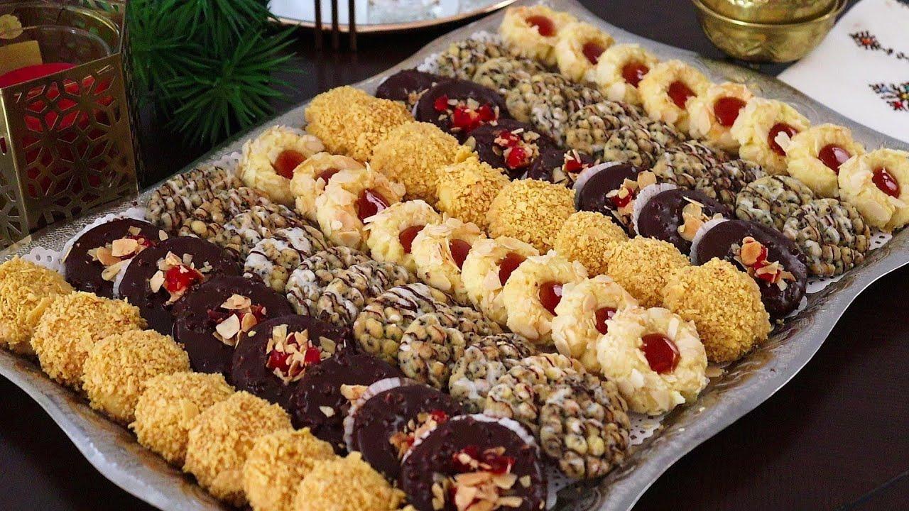 جديييد💪🤗كيف طلبتوا تشكيلة حلويات راقية خطيرة  سهلة بعجين واحد اقتصادي ويخرج كمية كبيرة...
