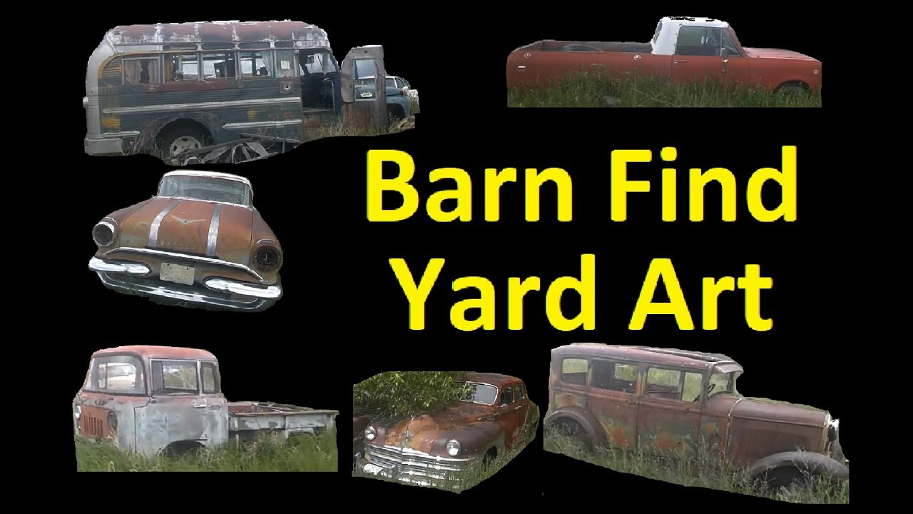 BARN FIND YARD ART CLASSIC CARS FOR SALE - YouTube
