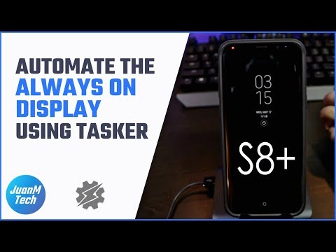 Automate the Always On Display using Tasker on a Samsung