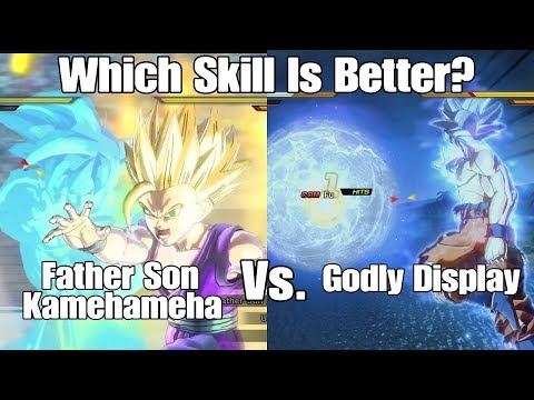 Xenoverse 2 Skill Test! Father Son Kamehameha Vs Godly Display Which Unobtainable Skill Is Better?
