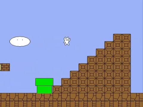 Быстрое прохождение Cat Mario (Fake)