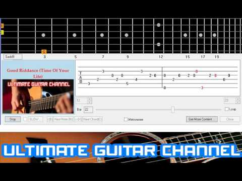 Guitar Solo Tab] Good Riddance (Time Of Your Life) (Green Day) - YouTube
