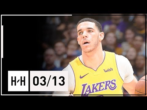 Download Youtube: Lonzo Ball Full Highlights Lakers vs Nuggets (2018.03.13) - 5 Pts, 9 Reb, 8 Assists