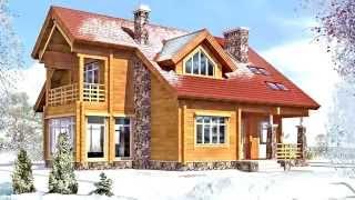 видео Проекты деревянных домов.Строительство бань,коттеджей из бруса.Смотреть онлайн.МОГУТА