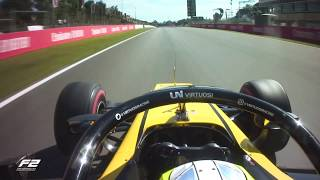 Luca Ghiotto's Onboard Formula 2 Pole Lap   2019 Spanish Grand Prix
