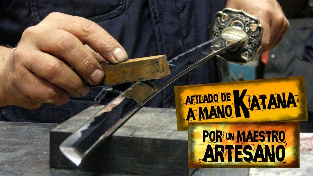 Afilado de KATANA a Mano por un Maestro Artesano | Sharpening a Katana by Hand