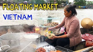 NOODLES on a Boat: FLOATING MARKET Tour of Mekong Delta VIETNAM