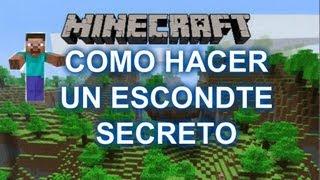 como hacer un escondite secreto en minecraft