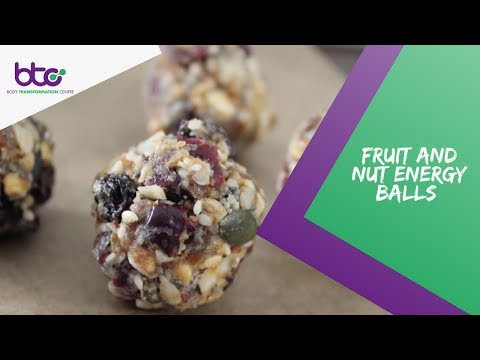 Snacks On The Go - Fruit & Nut Energy Balls Recipe
