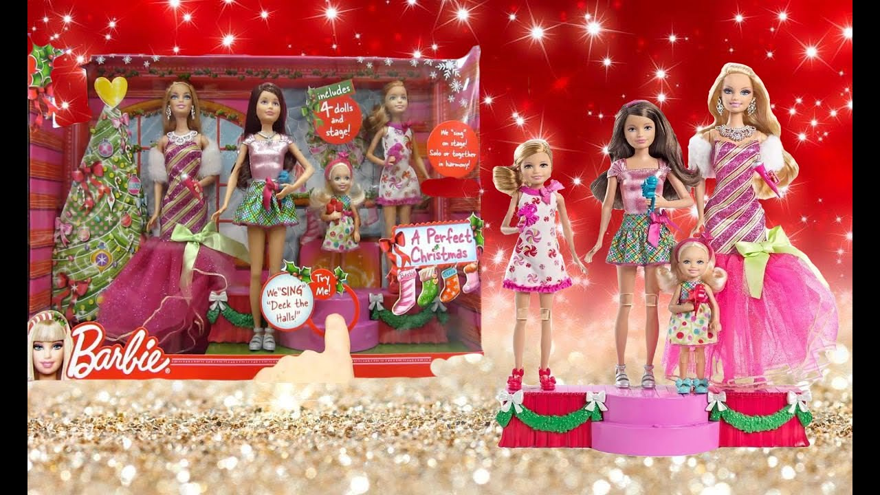 Download Opening and Review Of Barbie a perfect christmas Dolls and Stage   Video #79