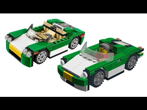 building LEGO city GREEN CRUISER. inspired by Creator 31056 set