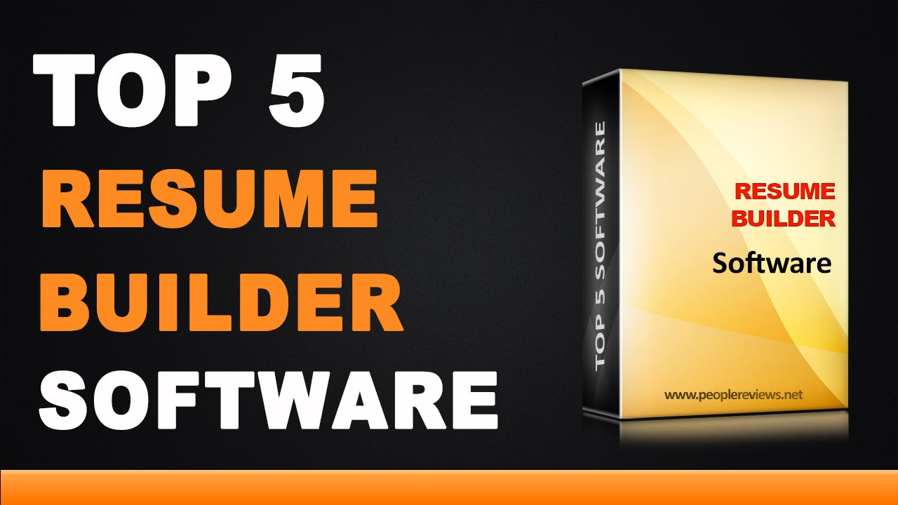 Best Resume Builder Software - Top 5 List - YouTube