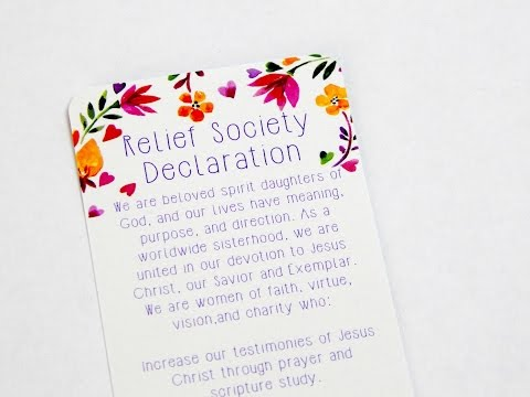 image regarding Relief Society Declaration Printable identify Aid Lifestyle Declarations Bookmark