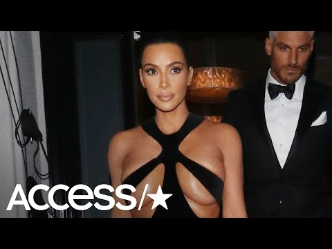 Kim Kardashian Stuns In Shocking Barely There Vintage Gown | Access