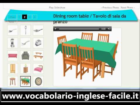 Vocabolario inglese facile a casa youtube - Camera da letto inglese ...