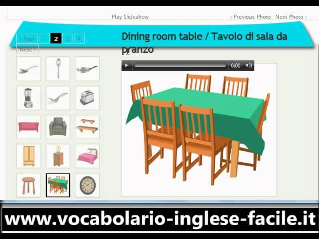 Descrivere Una Stanza Da Letto In Inglese.Vocabolario Inglese Facile A Casa Http Www Facile Anglais Com Youtube