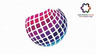 Circle Logo Design Tutorial Using 3D Revolve Effect in Adobe illustrator - Logo Design Tutorial