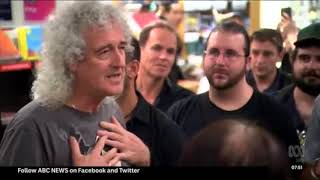 Brian May Kinokuniya bookstore visit (ABC b/c24022018)