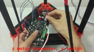 Flsun Kossel Delta 3d Printer Assembly Video Step 7-connect The Wire
