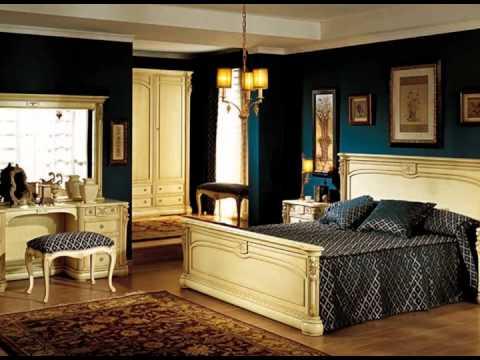 Dormitorios de matrimonio estilo clasico con camas armarios mesitas tocadores con espejo - Decoracion de dormitorios clasicos ...