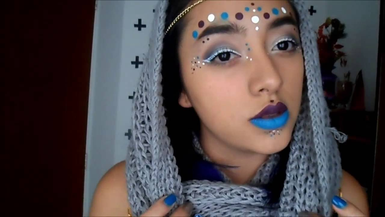 maquillaje para festival de musica electronica