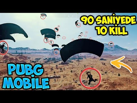 90 SANİYEDE 10 KİLL!! HACİ DE KATLİAM!! 25 KİLL - PUBG MOBİLE
