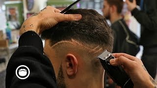 Pro Skin Fade with Lines | The Stag Barbershop