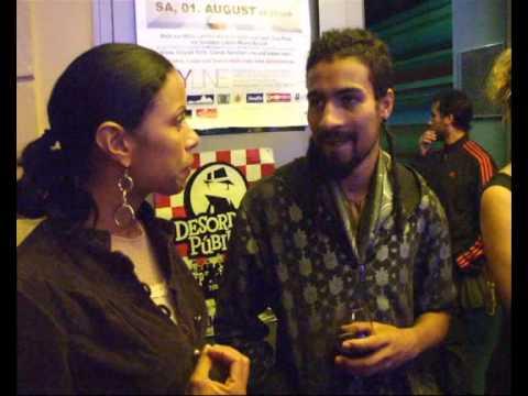 LA33 im Ampere Munich - 17. Juli 2009 Interview/Gespräch mit dem Sänger Pablo Martinez
