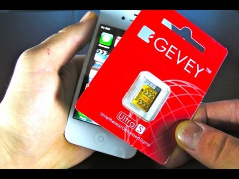 How To Unlock iPhone 4S 5.1.1/5.1/5.0.1/5.0 for Tmobile - Gevey Ultra S ATT 4S 2.0.12/2.0.10/1.0.14
