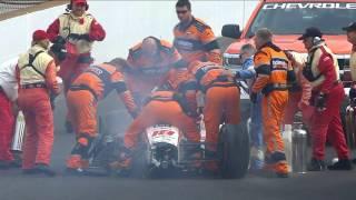 Accidente de Sebastien Bourdais en la clasificación 1 para Indy 500 2017