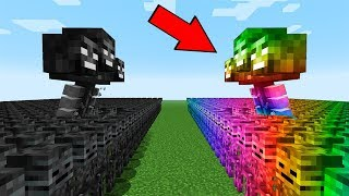 MINECRAFT WITHER BOSS BATTLE! WITHER VS RAINBOW WITHER