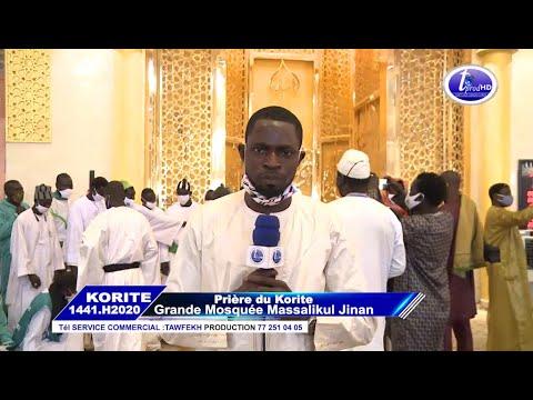 Prière De L'Aïd El Fitr Korité 2020 à La Grande Mosquée Massalickoul Djinnane Dakar