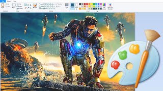 Hyper realistic Iron Man in MS Paint