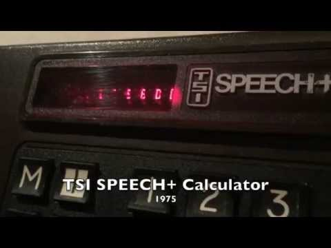 1975: The first speech synthesizer IC was born.