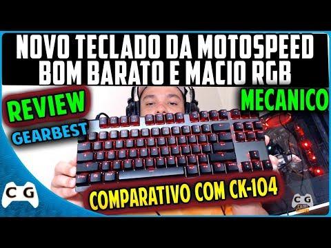Teclado Mecânico Bom e Barato o Melhor cxb Motospeed K82 RGB Unboxing Review Gearbest