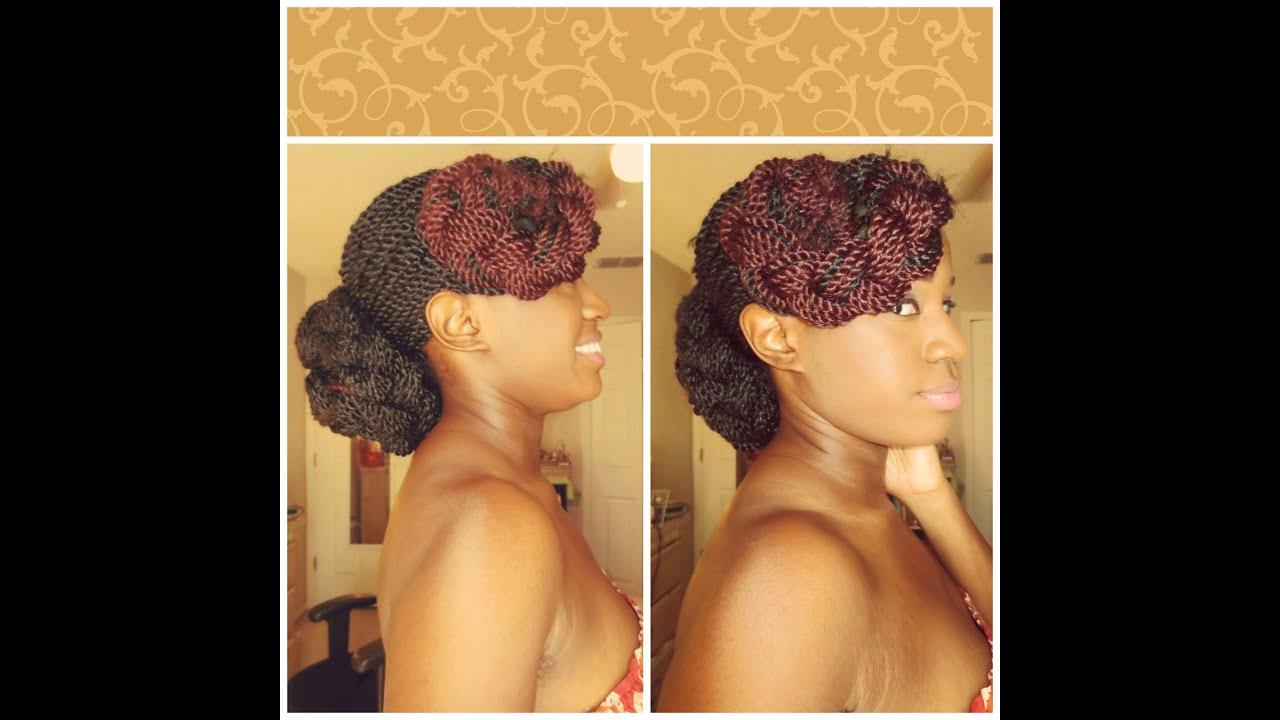 How I Style My Senegalese Twists & Box Braids EASY! Elegant Low