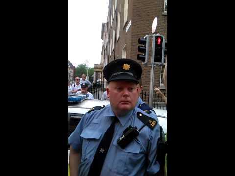 garda Brutality assault on peaceful citizen