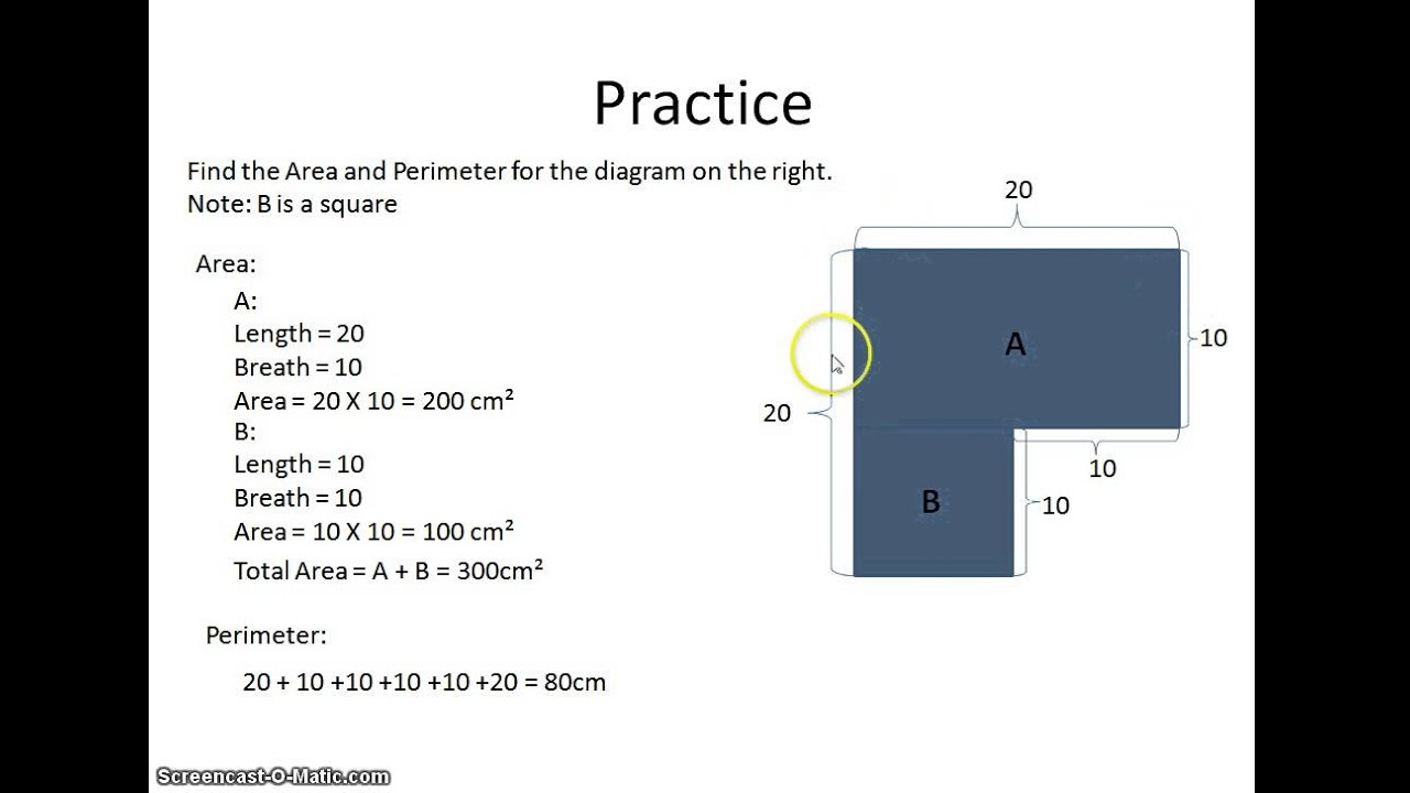 Primary/ Grade 5 Area and Perimeter - Short Tutorial - YouTube