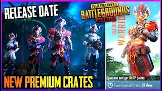 NEW UPCOMING PREMIUM CRATES LEAKS AND RELEASE DATE ( BLOODHOOK WARRIOR - PUBG MOBILE
