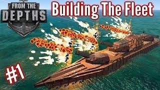 Building The Fleet 1 Beginner Ship Cram Torpedo Ship From The Depths