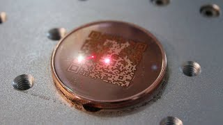 Laser-etching a Cold Storage Coin