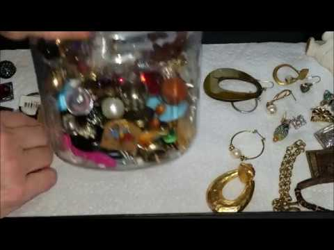 7th Jewelry Jar Unjarring ~ Part 1 ~ Did I find silver and gold?